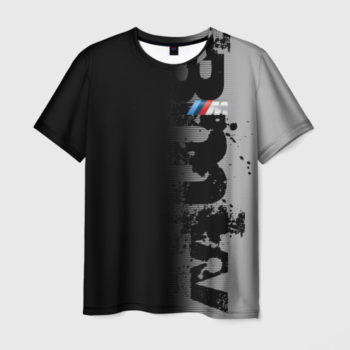 Мужская футболка 3D BMW M BLACK GREY | БМВ
