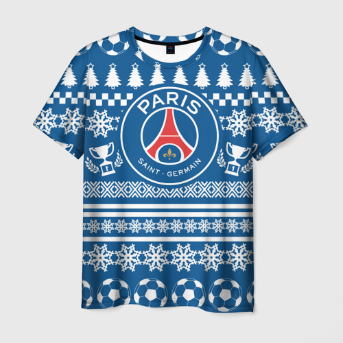 Мужская футболка 3D PSG Новогодний