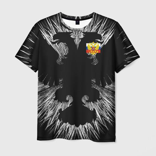 Мужская футболка 3D RUSSIA - Black Collection