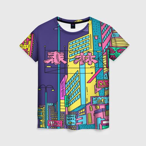 Женская футболка 3D Токио