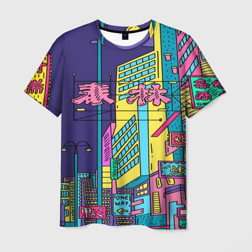 Мужская футболка 3D Токио