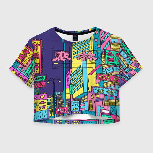 Женская футболка Crop-top 3D Токио