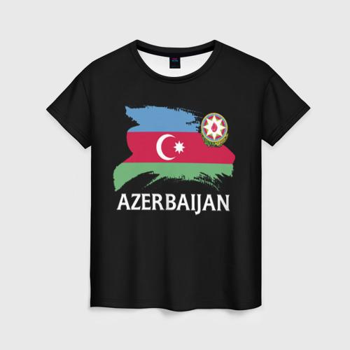 Женская футболка 3D Азербайджан