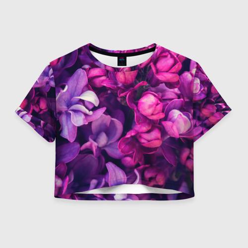 Женская футболка Crop-top 3D цветы
