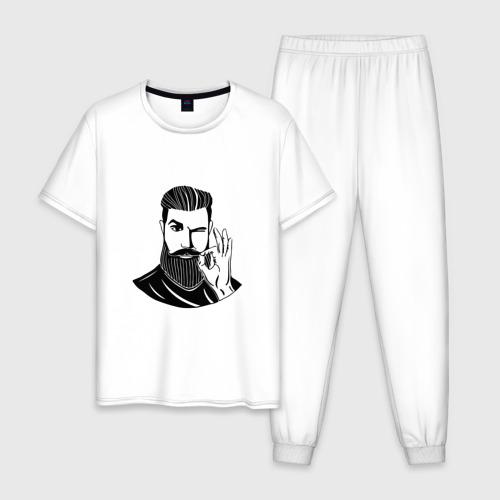 Мужская пижама хлопок Борода