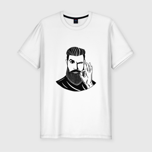 Мужская футболка хлопок Slim Борода