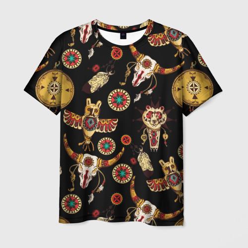 Мужская футболка 3D Индейский орнамент