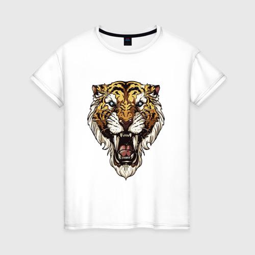 Женская футболка хлопок Тигр тигр тигрррррррр
