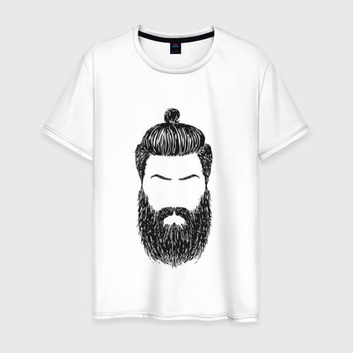 Мужская футболка хлопок Борода барбер
