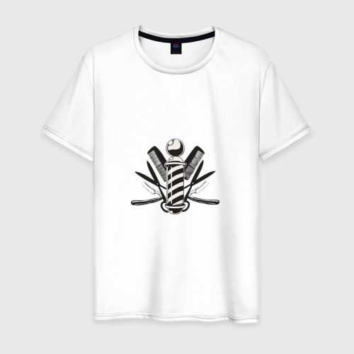 Мужская футболка хлопок Barber pole