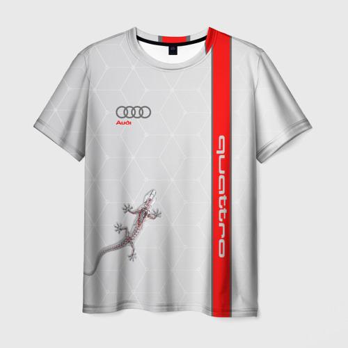 Мужская футболка 3D AUDI QUATTRO