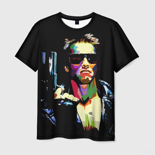 Мужская футболка 3D Терминатор