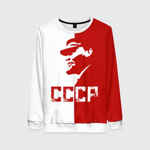 Женский свитшот 3D Ленин СССР