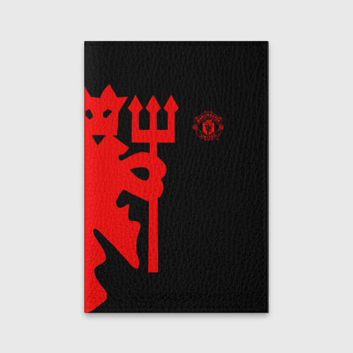 Обложка для паспорта матовая кожа МАНЧЕСТЕР ЮНАЙТЕД   FCMU   MANCHESTER UNITED