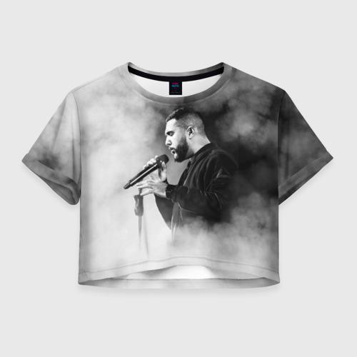 Женская футболка Crop-top 3D Jah Khalib