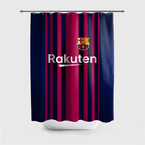 Штора 3D для ванной Barcelona FC