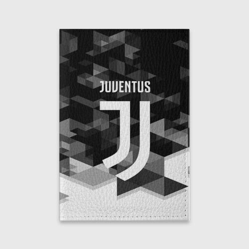Обложка для паспорта матовая кожа JUVENTUS / ЮВЕНТУС GEOMETRY SPORT