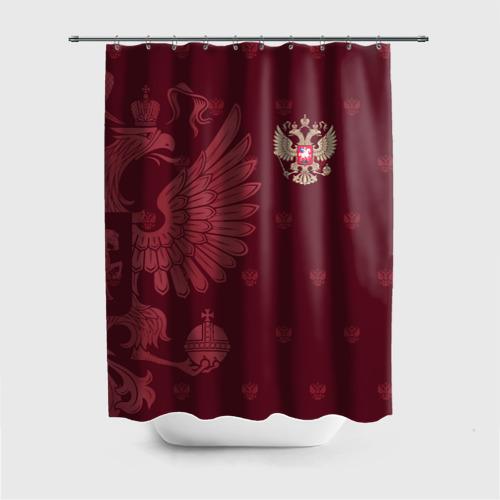 Штора 3D для ванной Герб России