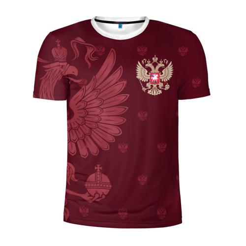 Мужская футболка 3D спортивная Герб России