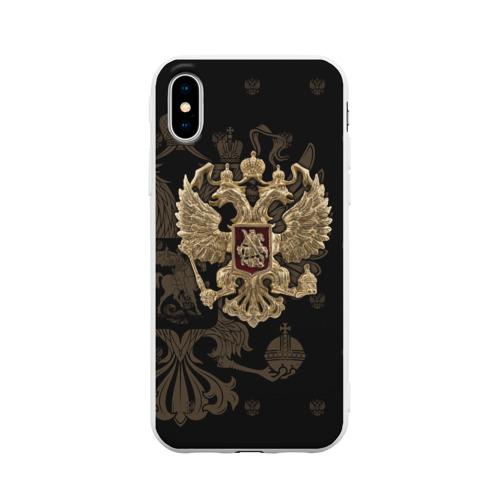 Чехол для iPhone X матовый Герб России