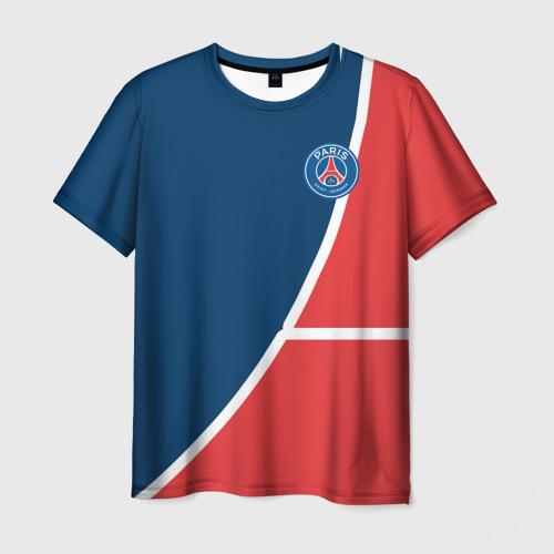 Мужская футболка 3D PSG LOGO