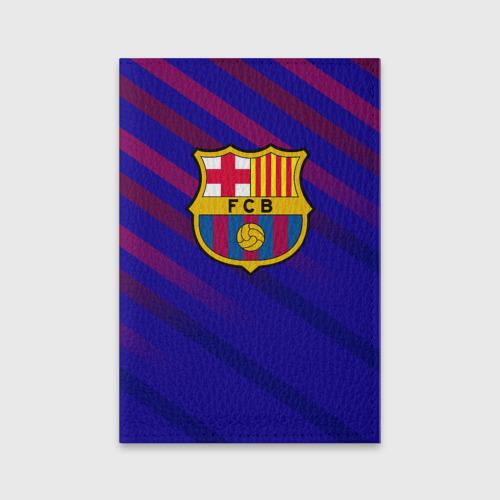 Обложка для паспорта матовая кожа FC Barcelona
