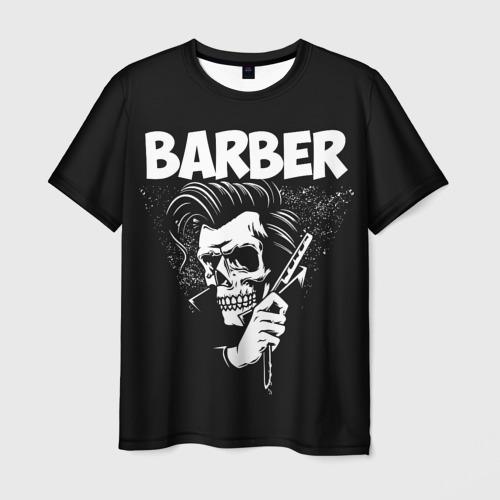 Мужская футболка 3D БАРБЕР 2-х сторонняя