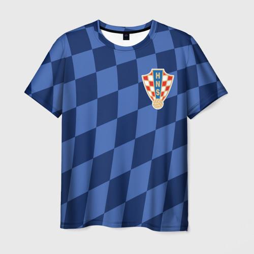 Мужская футболка 3D Хорватия, форма