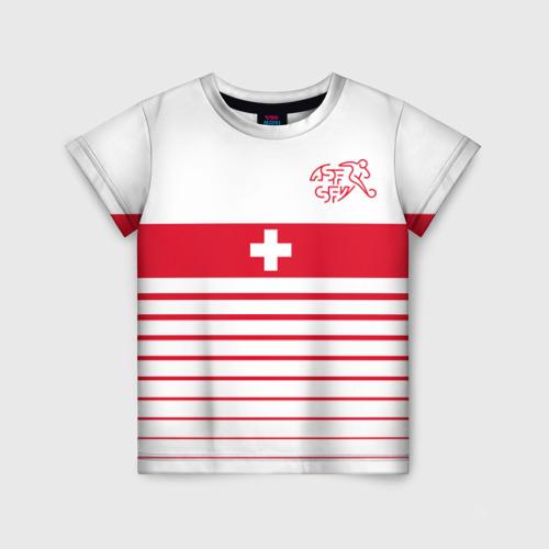 Детская футболка 3D Швейцария, форма