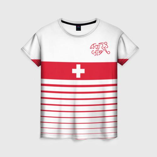 Женская футболка 3D Швейцария, форма