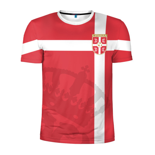 Мужская футболка 3D спортивная Сербия, форма