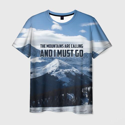 Мужская футболка 3D альпинизм