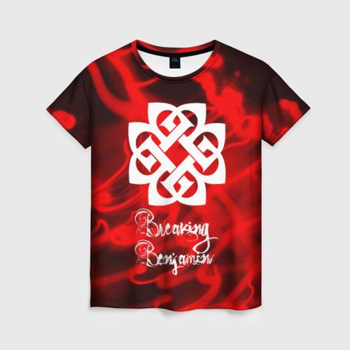 Женская футболка 3D BREAKING BENJAMIN