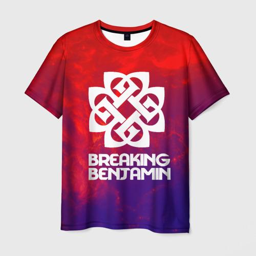 Мужская футболка 3D Breaking benjamin space rock