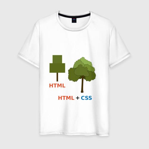 Мужская футболка хлопок Веб-дизайнеры html + css