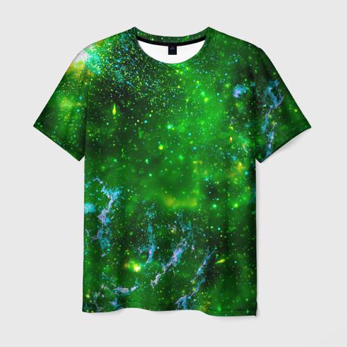 Мужская футболка 3D Кислотный космос
