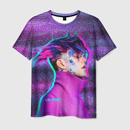 Мужская футболка 3D Glitch Peep