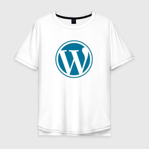 Мужская футболка хлопок Oversize WordPress CMS