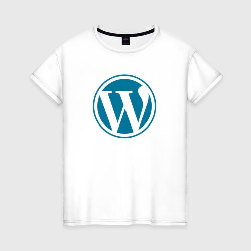 Женская футболка хлопок WordPress CMS