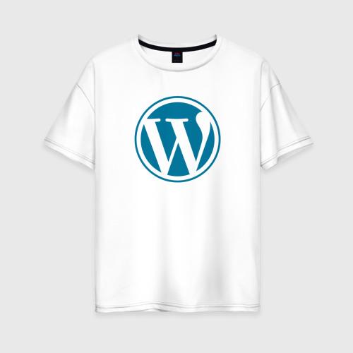 Женская футболка хлопок Oversize WordPress CMS