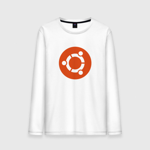 Мужской лонгслив хлопок Ubuntu OS