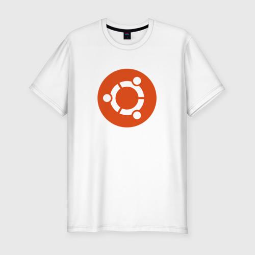Мужская футболка хлопок Slim Ubuntu OS