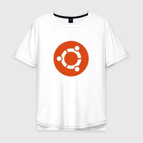 Мужская футболка хлопок Oversize Ubuntu OS