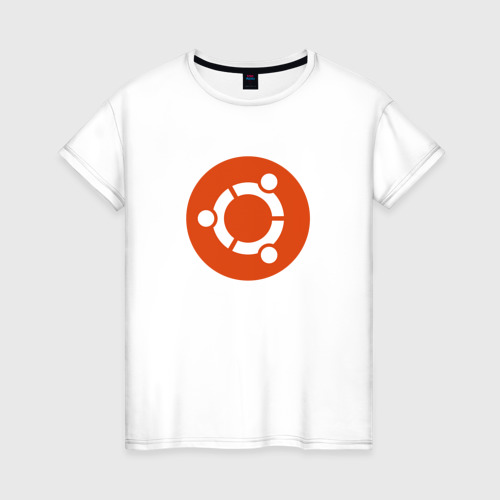 Женская футболка хлопок Ubuntu OS