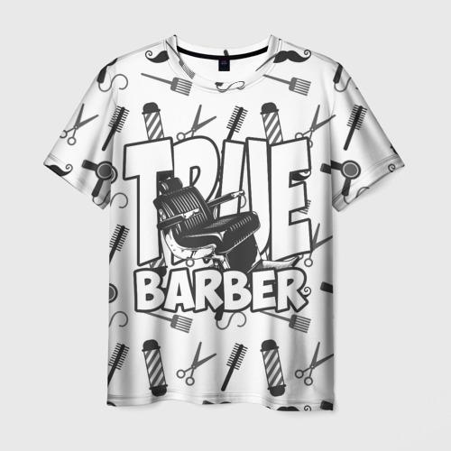 Мужская футболка 3D НАСТОЯЩИЙ БАРБЕР  TRUE BARBER