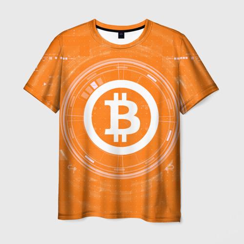 Мужская футболка 3D  БИТКОИН   BITCOIN