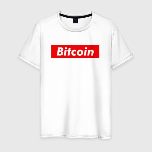 Мужская футболка хлопок Bitcoin