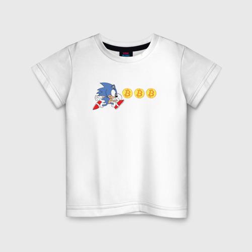 Детская футболка хлопок Соник
