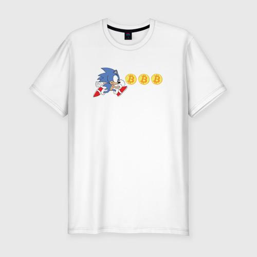 Мужская футболка хлопок Slim Соник