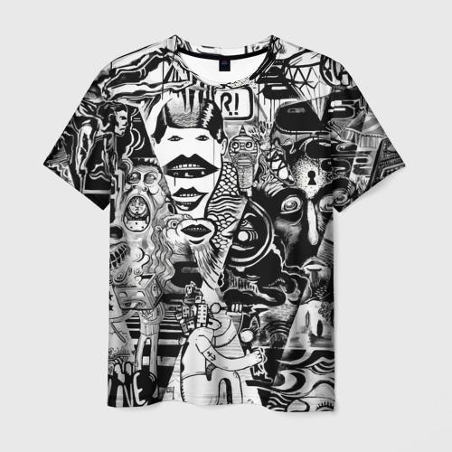 Мужская футболка 3D Стикербомбинг NEW искусство